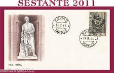 ITALIA FDC ROMA 1966 DONATELLO ANNULLO ROVIGO H18