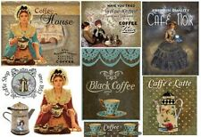 Carta DECOUPAGE Look Vintage Design Vittoriano Coffee House Abito Stile Vittoriano