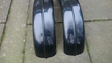 CYCLE WINGS UNIVERSAL FIBREGLASS KIT CAR BLACK PAIR PROJECT 7.5 inch width