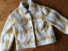 Alexa Chung Jacket yellow wool blend