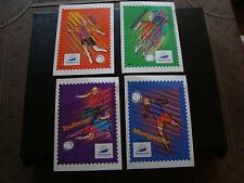 FRANCE - 4 cartes pret a poster 1998 (france 98) (cy46) french 2eme choix pliure