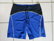 Speedo Tech Bonded Board Shorts, Black/Blue, 32 Waist