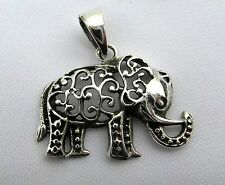 Sterling Silver  (925)   Scrolled  Elephant   Pendant    !!     Brand  New  !!