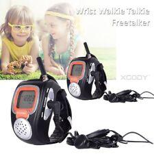 Portable Digital Wrist Watch Walkie Talkie Headset for Outdoor Sport Hiking 2PCS