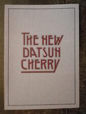 DATSUN CHERRY RANGE orig 1980 UK Mkt Smaller Format Sales Brochure