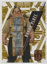 2017 Topps Star Wars High Tek GOLD Parallel UNKAR PLUTT #SW-106 SP SSP #11/50
