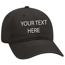 Black Dad cap Customized and personalized Embroidery with any text.