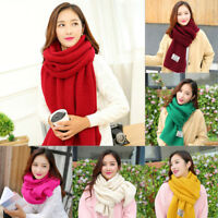 Women Cashmere Wool Scarf Large Shawl Lady Winter Warm Long Knitted Plaid Scarf