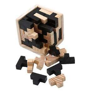 Wooden Intelligence Toy Chinese Brain Teaser Game IQ Puzzle For Kids Adults MA