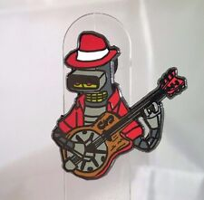 Blues Bender, Hat Pin, Enamel Pin, Futurama, Bender, Black Nickel