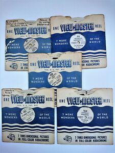 Vintage View-Master Reels X 5