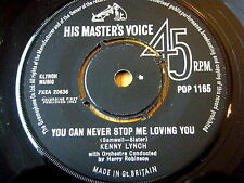 """KENNY LYNCH - YOU CAN NEVER STOP ME LOVING YOU  7"""" VINYL"""