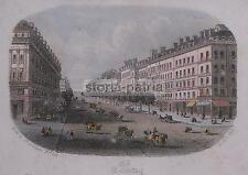 ARCHITETTURA_PARIGI_BELLA ANTICA VEDUTA COLORATA_ANIMATISSIMA_1867_ROCK_LONDRA