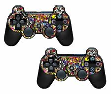 2x Stickerbomb Playstation 3 (PS3) Controller Sticker / Skin / 3ps4