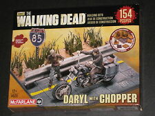 WALKING DEAD DARYL DIXON W/ CHOPPER MINI FIGURE CONSTRUCTION MCFARLANE BUILDING
