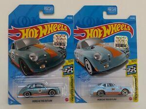 Hot Wheels 2021 Super Treasure Hunt - Porsche 356 Outlaw & Mainline J Case