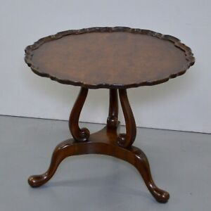 GEORGIAN REVIVIAL BURR-WALNUT  OCCASIONAL /COFFEE TABLE/ LAMP TABLE
