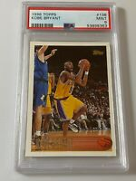 1996 TOPPS KOBE BRYANT #138 ROOKIE CARD RC PSA 9 MINT LAKERS QTY