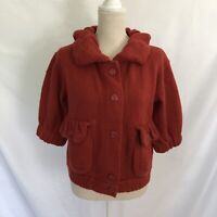 MARC BY MARC JACOBS Red Wool Shawl Collar Cardigan Sweater Small