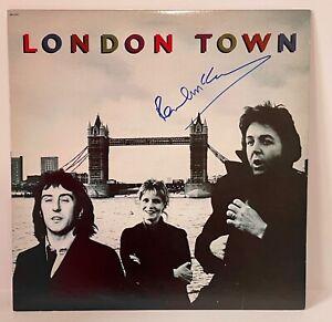 Paul McCartney Signed Auto London Town The Beatles Record LP Album W/ COA