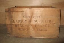 Vintage Barton & Guestier wood shipping crate or box  Very Rare