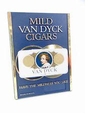 More details for rare vintage original pub bar buy van dyck cigar sign stand with tin tobacciana