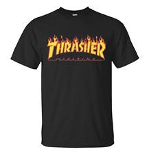 Thrasher Mag Flame Logo Black Short Sleeve T-Shirt Size XL