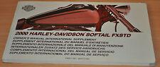BA Betriebsanleitung Harley Davidson 2000 Softail FXSTD Owners Manual Zusatz