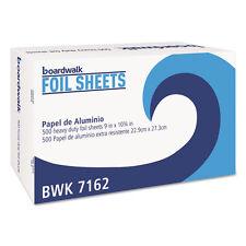 Boardwalk Pop-Up Aluminum Foil Wrap Sheets 9 x 10 3/4 Silver 500/Box 7162BX