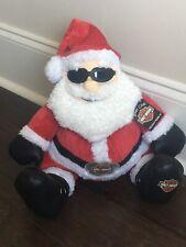Harley-Davidson Motorcycles Santa Claus Plush StuffedChristmas Doll 2006 TAGS