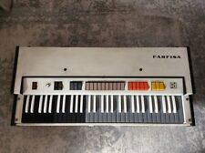 VINTAGE FARFISA quasi five V organo Orgel for repair needs work with Sustain Pedale