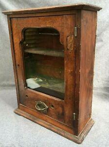 Antique french cabinet furniture vending machine 19th century walnut wood 20lb