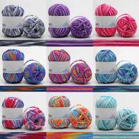 4 Ply Colour Gradient Cotton Blend Yarn Hand Knitting Crochet Wool Soft Yarn 1PC