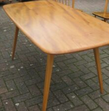 Original ERCOL Windsor Plank Dining Table to Seat 6.  Solid Elm & Beech. no. 382