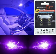 Canbus Error LED Light 168 Purple 12000K Two Bulbs License Plate Tag Upgrade SMD