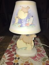 Laura Ashley English Hey Diddle Cow Jumped Over the Moon Nursery Lamp and Shade
