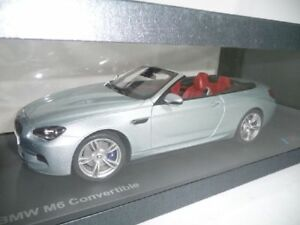 BMW 6er M6 F13 CABRIO SILVERSTONE II 1:18 PARAGON DEALER VERY RARE