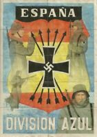 WW2 CURRENCY RATION SHEET w DIVISION AZUL SOLDIERS/SWASTIKA ON BACK of COUPONS!!