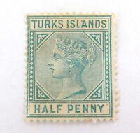 .TURKS ISLAND c1870 QV 1/2d MH NICE GRADE STAMP