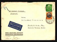 Germany 1941 Censor Clipper Cover to USA / Light Creasing - Z16113