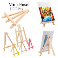 Party Decor Artist Painting Stand Display Holder Wooden Easel Artwork Shelf