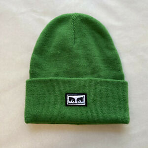 Obey Tall Beanie Icon Eyes Green OSFM NEW Snowboard Ski Winter Andre