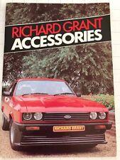 """#10346 Auto-Zubehör-Prospekt """"Richard Grant Accessories"""" (franz., GB ca. 1985)"""