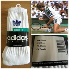 3 Pairs 1990s Adidas Crew Tennis Socks 80s Sports Ankle Trainer UK 3 4 5 6 7 8 9