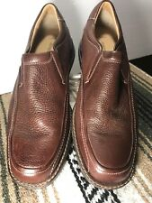 Men's Shoe JOHNSTON & MURPHY Brown Loafer Sheep Skin Leather Slip On Size 10M