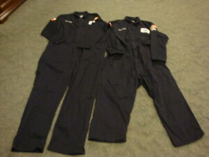 2 Oil Oilfield Work COVERALLS Overall W/Patches Bulwark Flame Resistant Size XXL