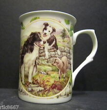 Border Collie Dog By Mellor Fine Bone China Mug Cup Beaker