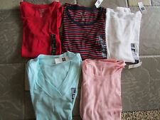 NEW GAP SHIRT LOT WOMENS S LONG SLEEVED FAVORITE T LOT 5 ALL COLORS  FREE SHIP