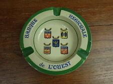 CENDRIER ANCIEN Ceramique / ASHTRAY VINTAGE Banque Regionale de l'Ouest en GIEN