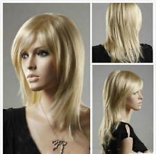 Haute qualité ! blonde longue raide santé cosplay Costume cheveux perruques